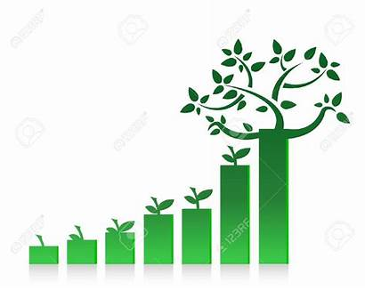Clipart Graph Eco Growth Growing Success Chart