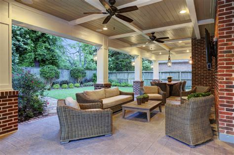 traditional patio cover spring valley houston texas