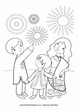 diwali colouring pages  images diwali fireworks