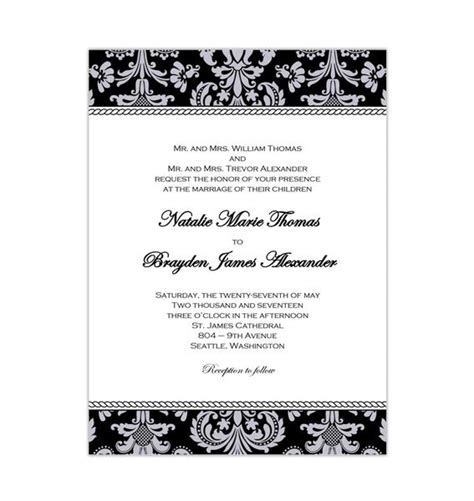 wedding invitations templates printable   budgets