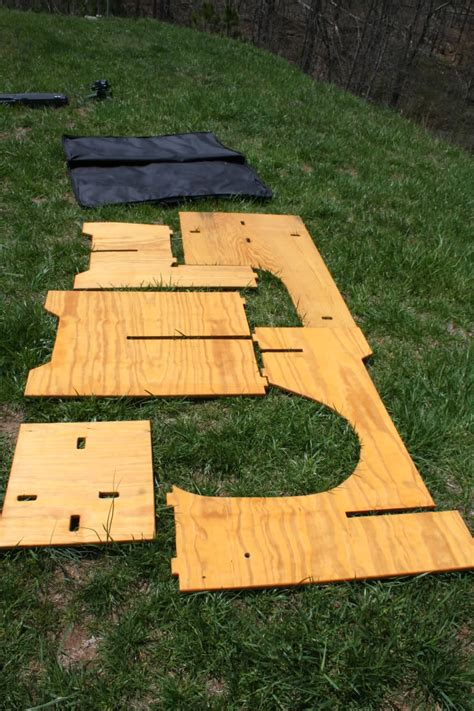 wooden shooting bench plans portable  plans