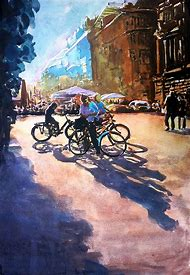 Watercolor Street Scene Paintings