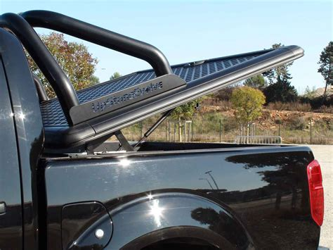 evob upstone aluminium tonneau cover nissan navara double cab  checker plate