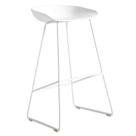 Tabouret Hay About A Stool by Tabouret About A Stool Aas38 H 75 Blanc De Hay
