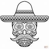 Sombrero Skull Coloring Sugar Para Pages Colorear Con Calavera Dibujo Printable Skulls Drawings Drawing Supercoloring Imprimir Crafts Una Ni Cif sketch template
