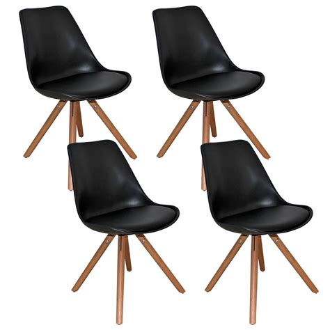 lot chaises deco in lot de 4 chaises design noir velta velta