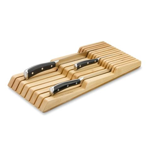 knife drawer organizer williams sonoma in drawer 15 slot knife organizer