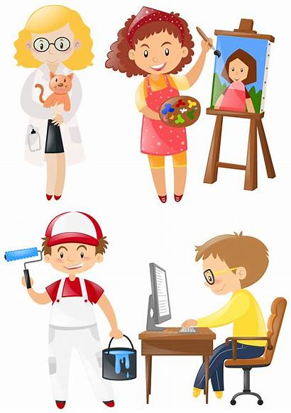 Jobs Different Doing Vector Clipart Related Graphics