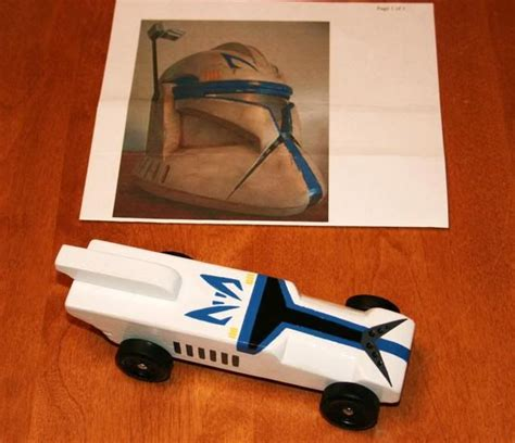 pinewood derby templates wars captain rex pinewood derby car cub scouts