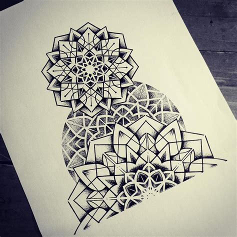 mandala dotwork geometry tattoos pinterest