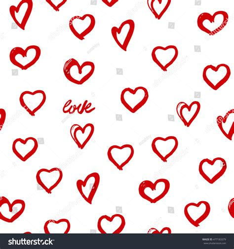 Seamless Background Hearts Great Birthday Baby Stock