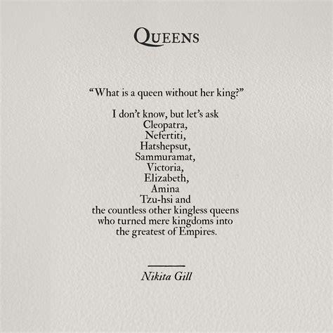 Queen Nikita Gill Feminist Quotes