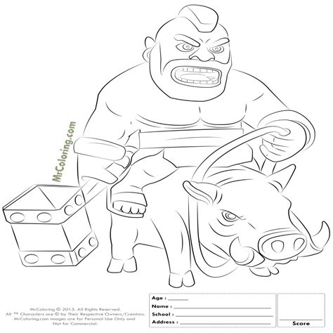 Buy Clash Of Clans Wizard Coloring Pages Coloring Pages Print