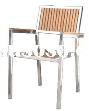 stainless steel furniture outdoor dining chair stackable