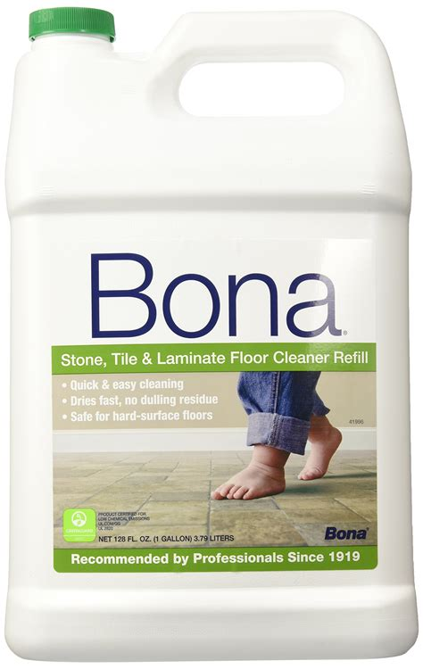 bona tile laminate floor cleaner bona tile and laminate floor cleaner refill 128
