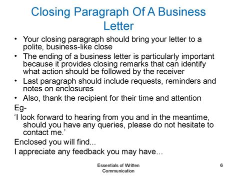 business letter closing sentence exles 28 images