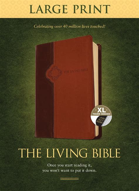tyndale  living bible large print edition