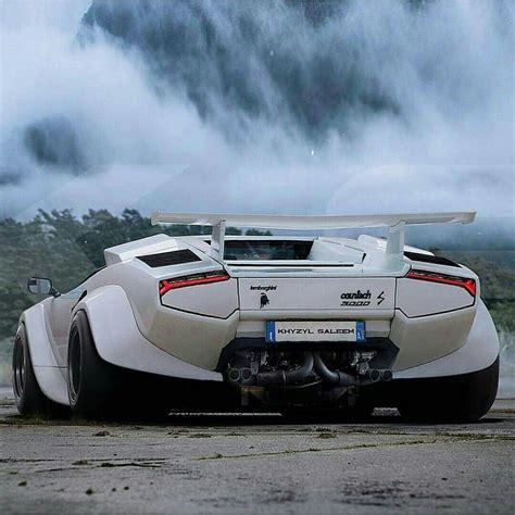 Lamborghini Countach With A Wide Body Kit.