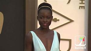 Lupita Nyong'o Fashion Shots on Oscar Red Carpet - YouTube