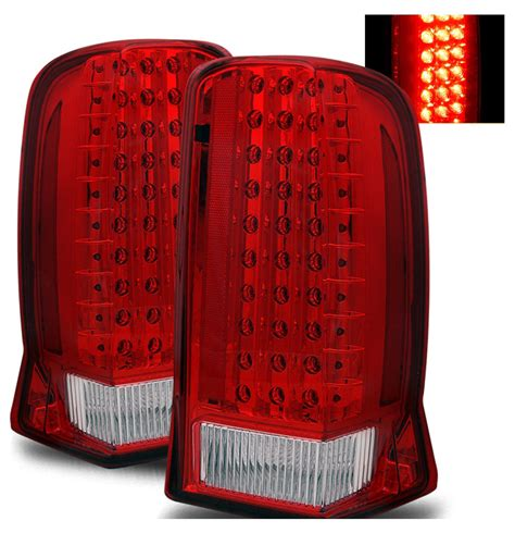 cadillac escalade tail lights 02 06 cadillac escalade euro style led tail lights red