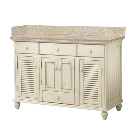 Country Bathroom Vanities Home Depot by Foremost Cottage 49 In W X 22 In D Bath Vanity In