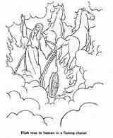 Elijah Coloring Heaven Chariot Flaming God Rose Prophet Praying Sun Bible Coloringsun Sunday Whirlwind Sheets Crafts sketch template