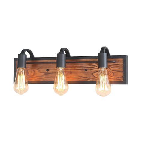 lnc  light black rustic bathroom lighting wood wall