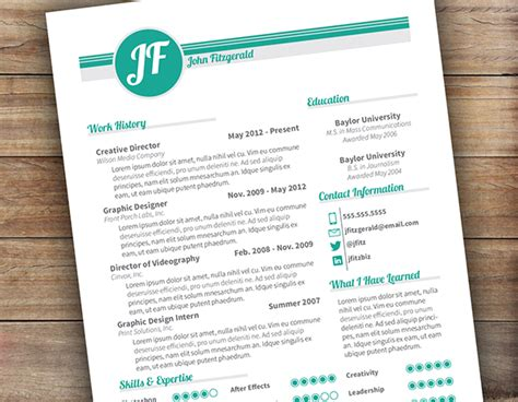 Behance Resume Template by Exle Resume Resume Templates Behance