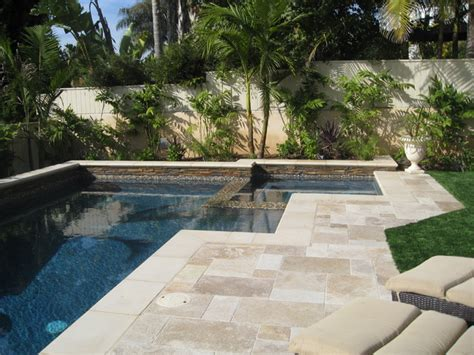 travertine paver pool deck design and cost home ok