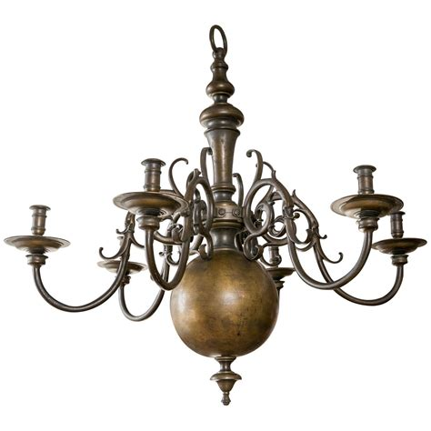 Large Brass Chandelier by Large Brass Chandelier At 1stdibs