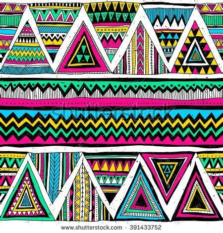 tribal colors neon color tribal navajo vector seamless pattern with