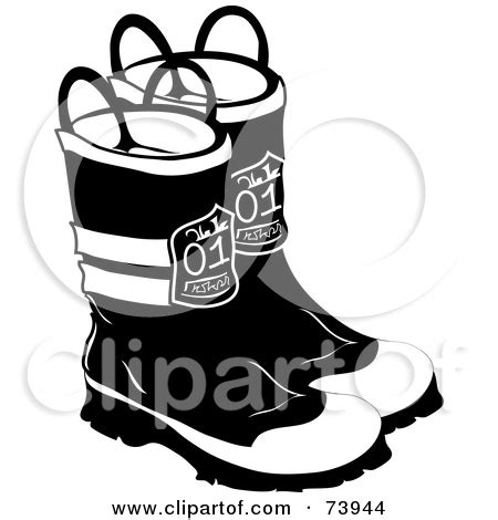 fireman boots clipart black and white boots clipart clipart kid