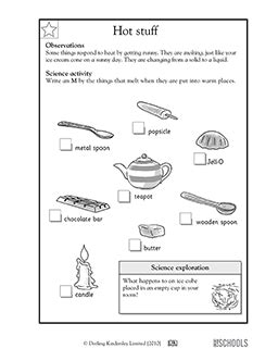 Hot stuff   1st grade, 2nd grade, Kindergarten Science ...