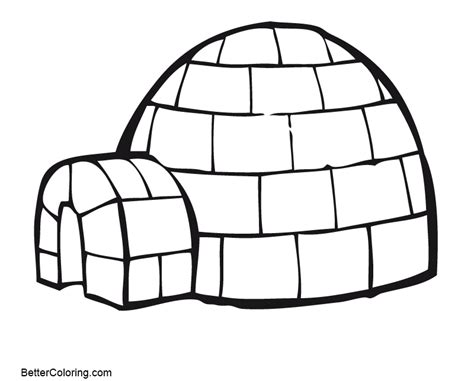 Igloo Of Winter Coloring Pages