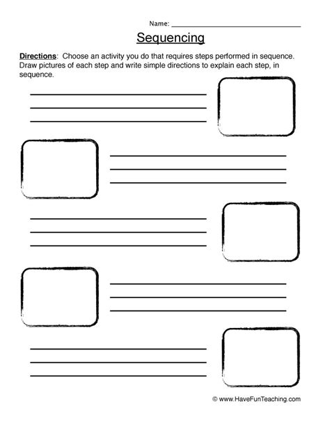 Sequencing Worksheet  Planting A Seed