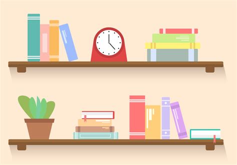 computer desk with shelf bookshelf vector free vector stock