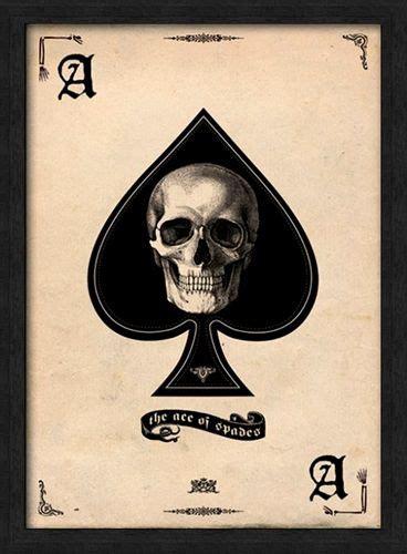 affiche sous cadre t 202 te de mort ace of spades cadres rock a gogo