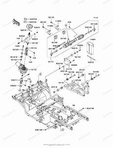 Kawasaki Side By Side 2011 Oem Parts Diagram For Frame
