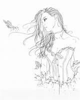 Deviantart Coloring Fairy Counting Stars Drawing Timeless Shadow Colouring Corset Template Sketch Adult Sullen sketch template