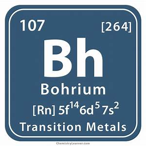 Bohrium Facts, Symbol, Discovery, Properties, Uses