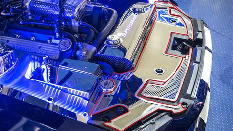 shelby mustang front header plate
