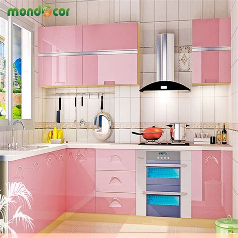 kitchen cabinet adhesive paper new glossy pvc waterproof self adhesive wallpaper for 5150