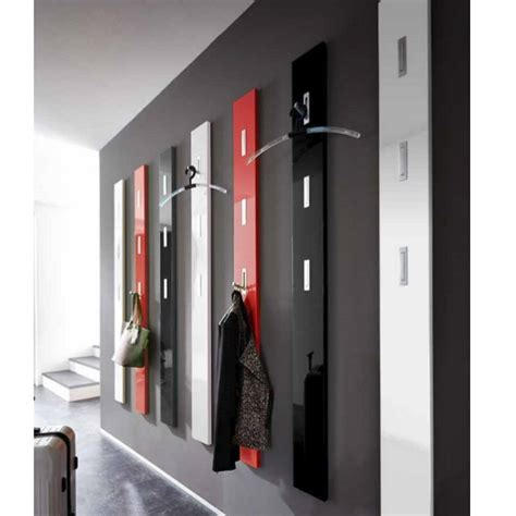 caisson bureau blanc laqué porte manteau mural laque design noir blanc alti