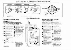 Kenmore 11026901690 User Manual Super Capacity Plus