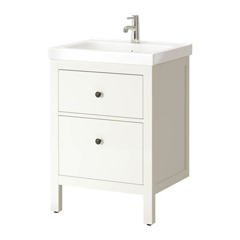 hemnes odensvik wash stand with 2 drawers white ikea