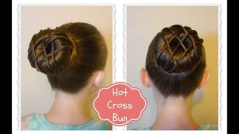 hot cross bun hairstyle dance hair ballet bun youtube
