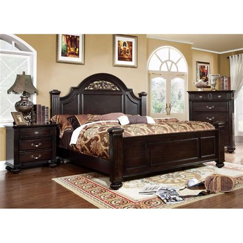 Cymax Bedroom Sets by Furniture Of America Damos 3 Panel Bedroom Set