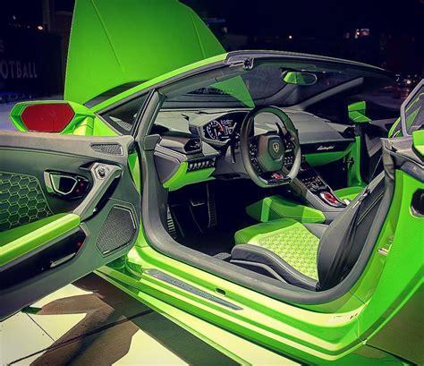 lamborghini huracan lime green  black interior highlighter auto addiction interiors
