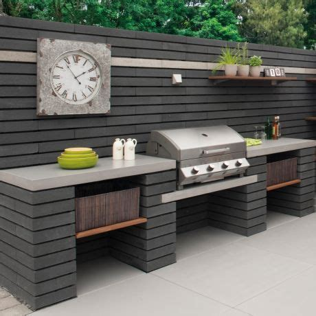 moodul concrete walling blocks black    single