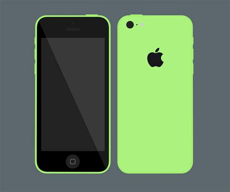 iphone 5c phone flat iphone 5c mockup psd file